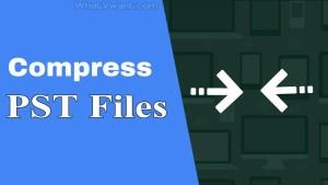 Compress PST file