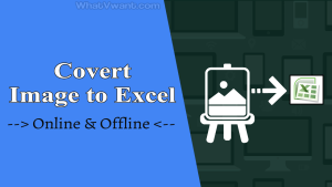 Convert image to excel