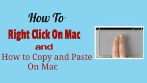Right Click On Mac