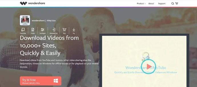 Wondershare AllMy Tube video downloader.
