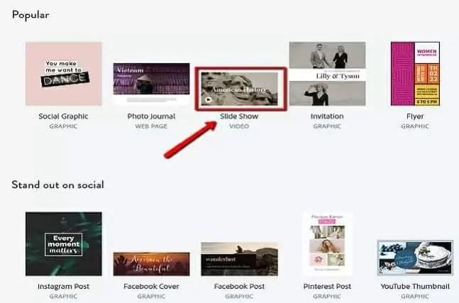 Adobe spark template