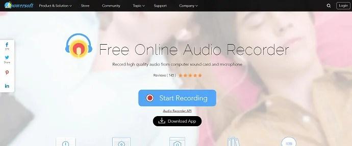 Apowersoft-Free online audio recorder.