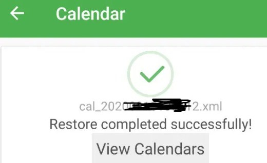 restore succesfully