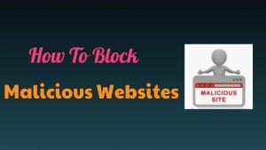 Block Malicious Websites