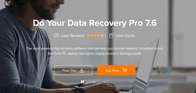 Do Your data Recovery Pro Homepage.
