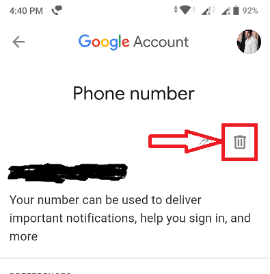 click on bin symbol