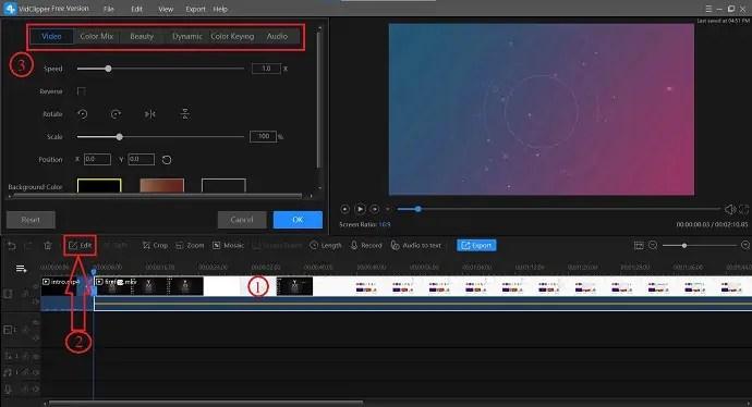 VidClipper edit