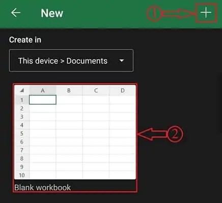 New worksheet in Microsoft excel