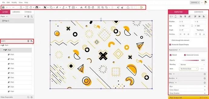 Gravit Designer editing Interface
