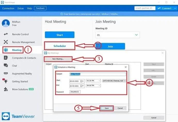 TeamViewer Meeting Schedule