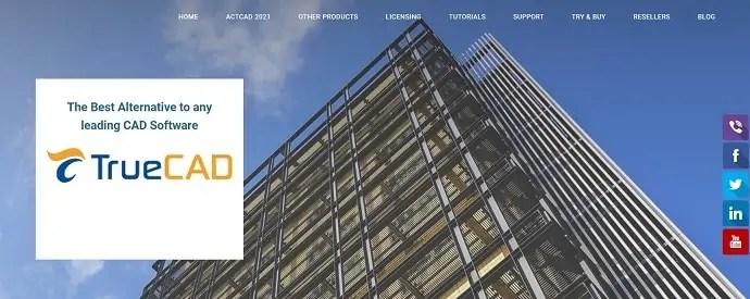 TrueCAD homepage