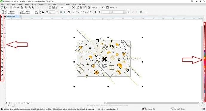 CorelDRAW Editing Interface