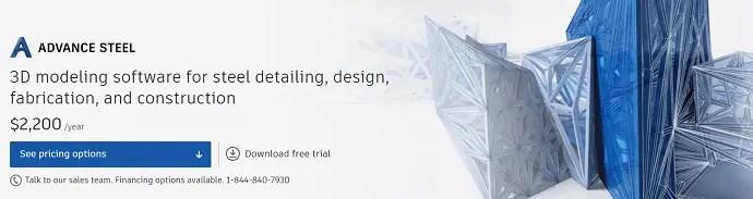 Advance Steel Homepage
