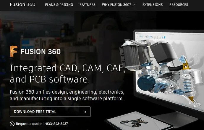 Fusion 360 homepage