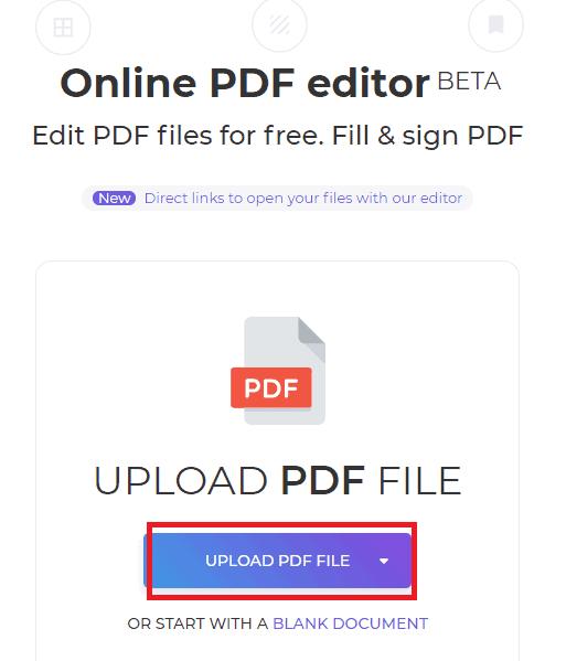 Import options in DeftPDF