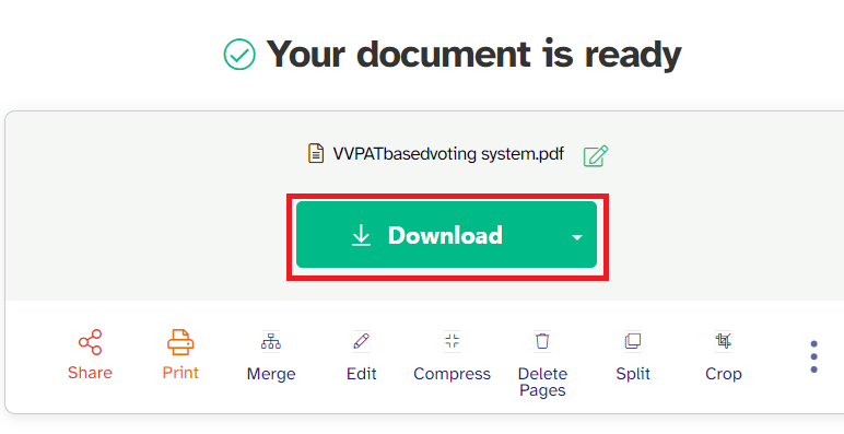 download the file