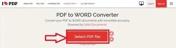 ILovePDF website