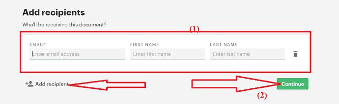 Add recipient details