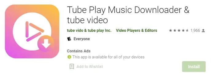 Tube Play Music Downloader