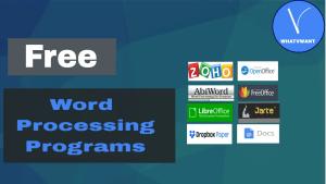 Free word processing programs