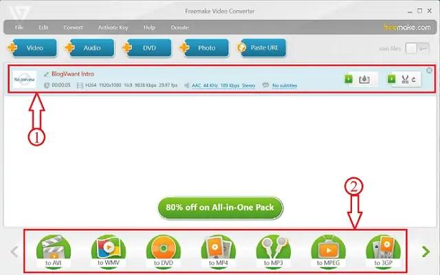 Freemake Video Converter Downloading page