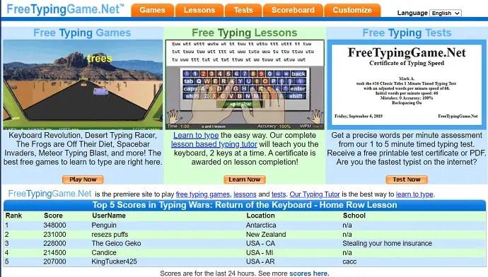 FreeTypingGame.Net