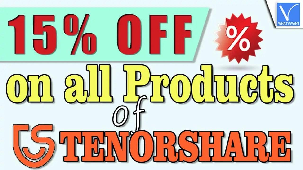15% Tenorshare