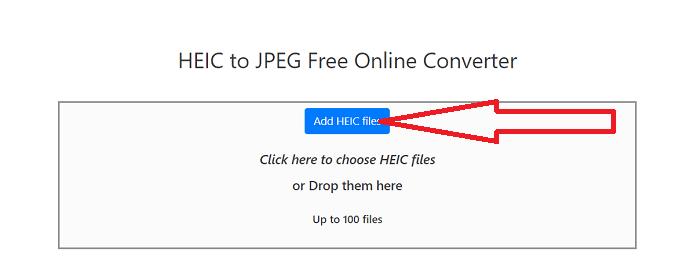 select Add HEIC files option