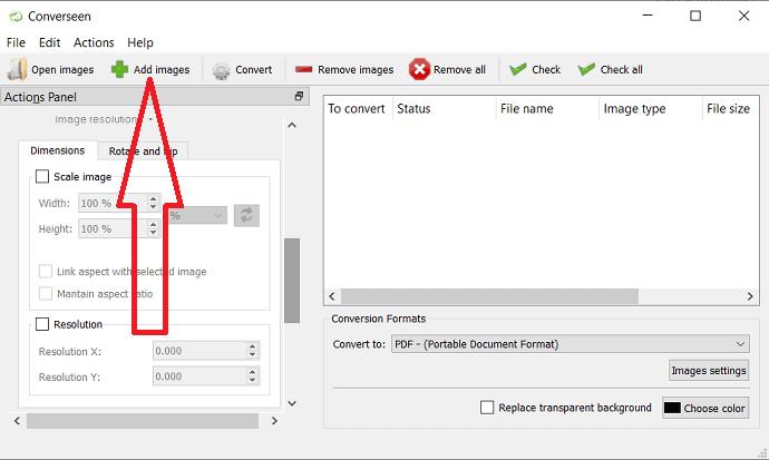 select Add image option.