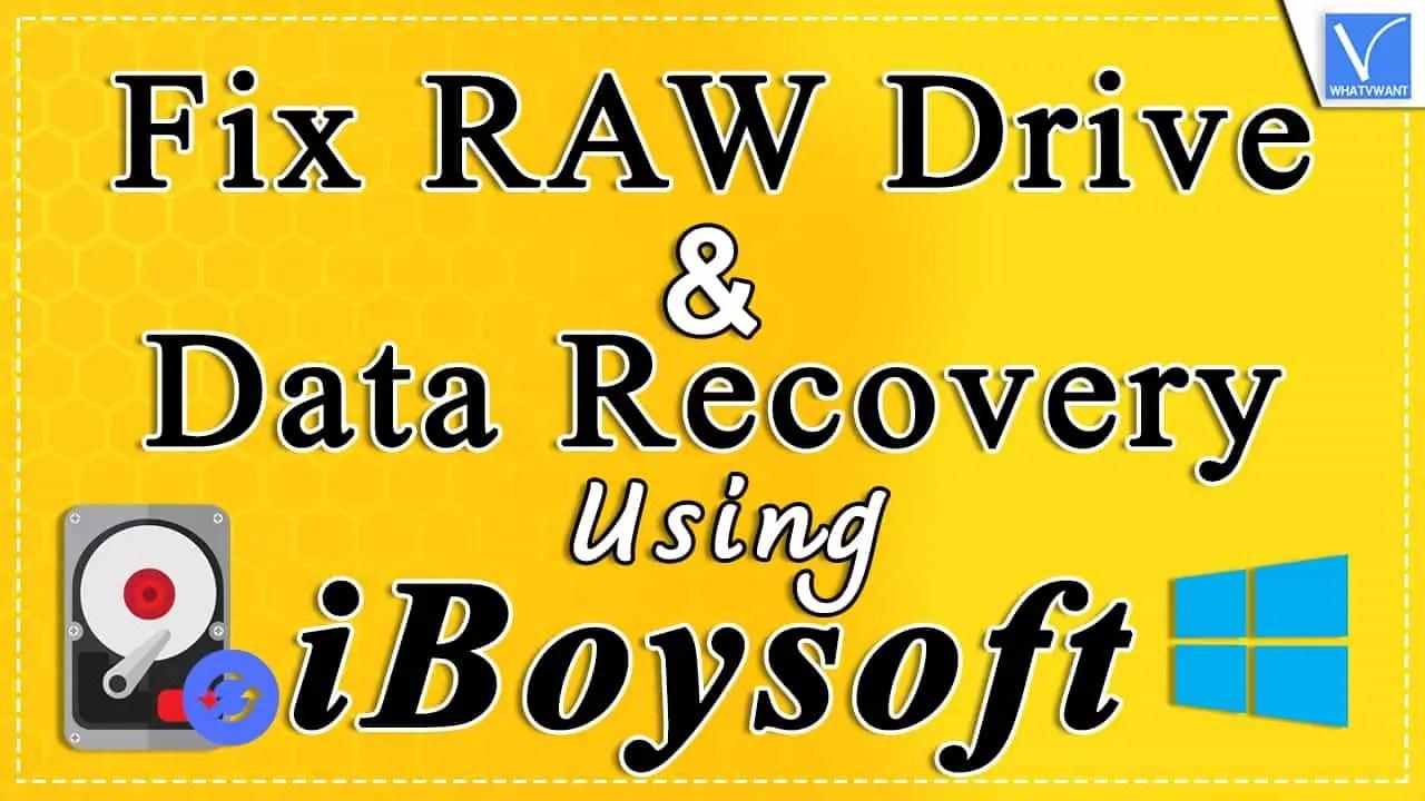 Fix RAW Drive