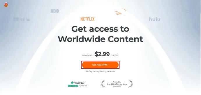 Hola VPN Official site