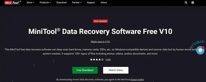 MiniTool Power Data Recovery Homepage
