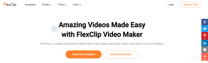 FlexClip- online video editor