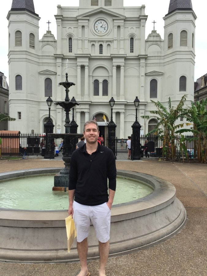 Billy at St. Louis Cathedral