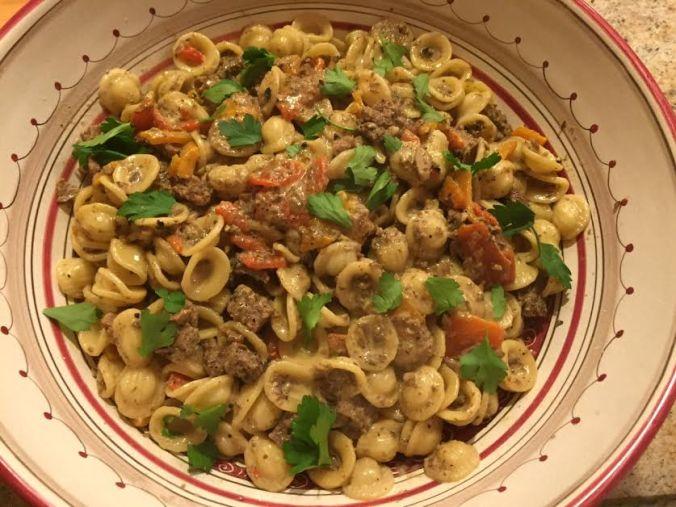 pasta-with-sausage