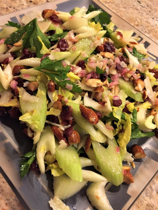 celery and almond salad