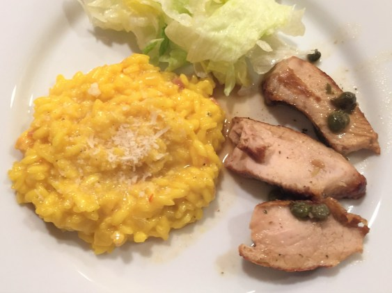 chops and risotto