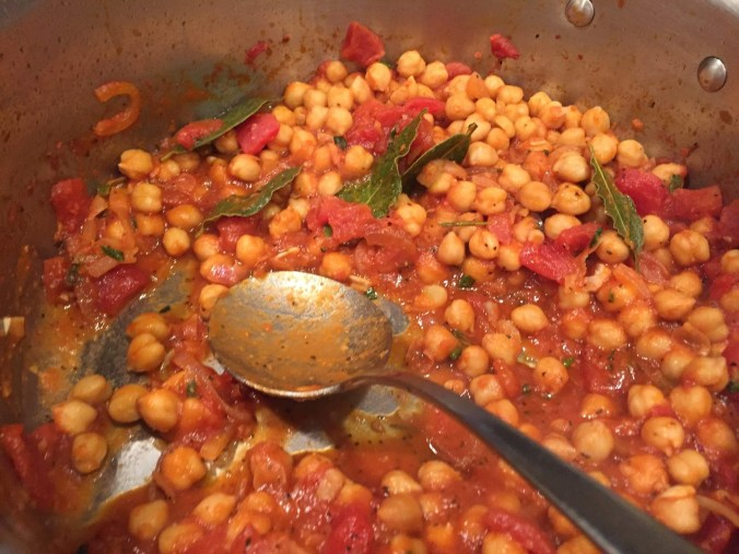 Chickpeas pot