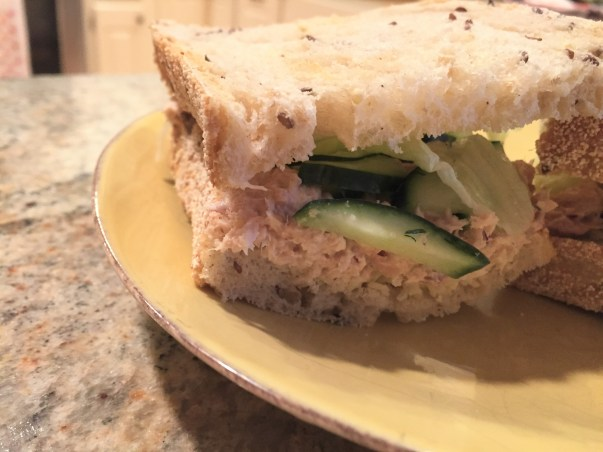 tuna salad with quick pickle