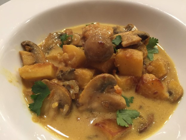 squash and mushroom curry