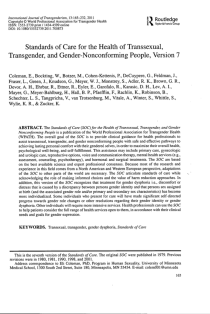 Standards of Care for the Health of Transsexual, Transgender, and Gender-Nonconforming People, Version 7