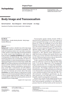 Body image and transsexualism