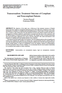 Transsexualism: Treatment Outcome of Compliant and Noncompliant Patients