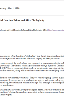 Psychological and social function before and after phalloplasty