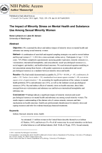 The impact of minority stress on mental health and substance use among sexual minority women.
