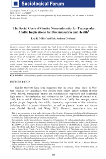 The Social Costs of Gender Nonconformity for Transgender Adults: Implications for Discrimination and Health.
