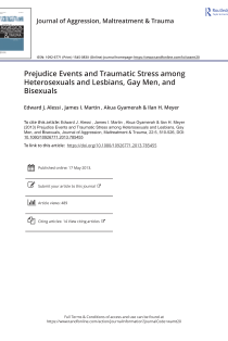 Prejudice events and traumatic stress among hetero