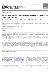 Race/Ethnicity and Health-Related Quality of Life Among LGBT Older Adults.