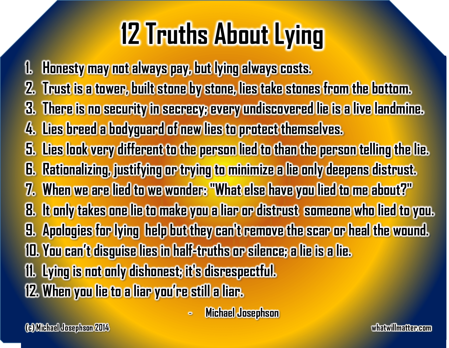 12 Truths About Lying What Will Matter