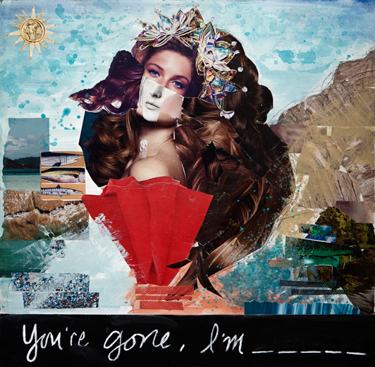 """You're Gone, I'm_____, 2013"", unique mixed media by Shannon McDonald (courtesy of the artist and Panopticon Gallery)"
